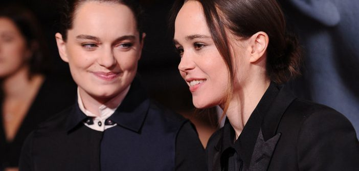 "LOS ANGELES, CA - SEPTEMBER 27:  Emma Portner and Ellen Page attend the premiere of ""Flatliners"" at The Theatre at Ace Hotel on September 27, 2017 in Los Angeles, California.  (Photo by Jason LaVeris/FilmMagic)"