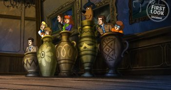 "Supernatural -""ScoobyNatural"" Pictured (L-R): Castiel, Fred, Shaggy, Dean, Daphne, Scooby Doo, Sam and Velma --"